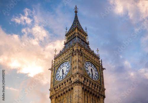 Photo Big Ben at golden hour