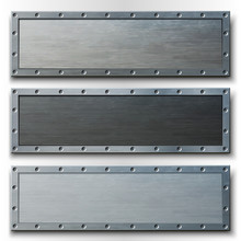 Set Of Three Horizontal Metal ...