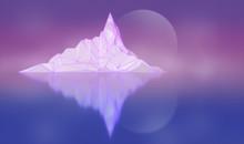 Polygon Image Of Mountain Peak...