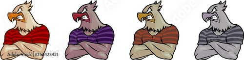 Fotografie, Tablou  eagle masculine vector mascot illustration