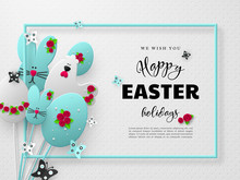 Happy Easter Holiday Design. 3...