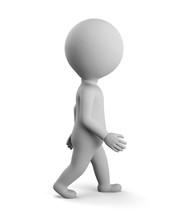 3D Small Man - Walk Away