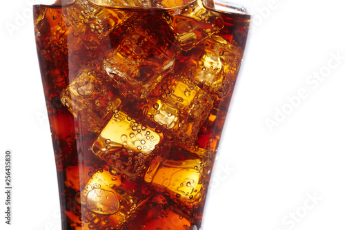 Fotografie, Obraz  cola with ice cubes
