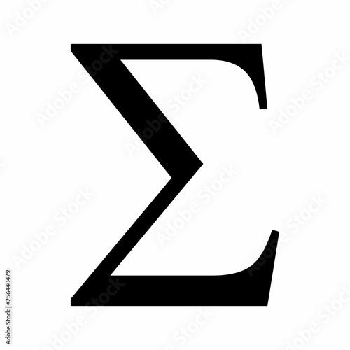 Fotografie, Obraz  Sigma sign illustration