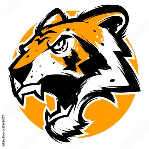 Fényképezés tiger head mascot illustration vector esports logo