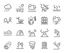 Set Of Natural Disaster Icons,...