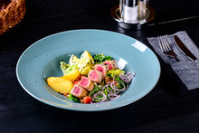 Fresh Salad With Steak Meat