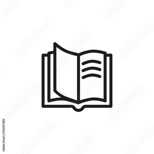 Photo Opened book line icon