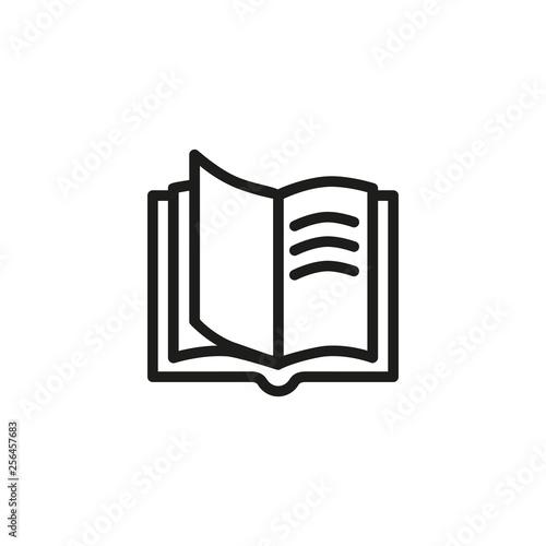 Fotografie, Obraz Opened book line icon