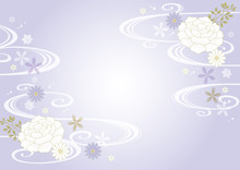 静かな和柄紫