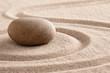 zen meditation stone and sand garden for mindfulness, relaxation, harmony balance and spirituality. .