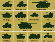 Different Set Military Icons O...