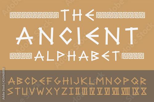 Ancient english creative alphabet Canvas Print