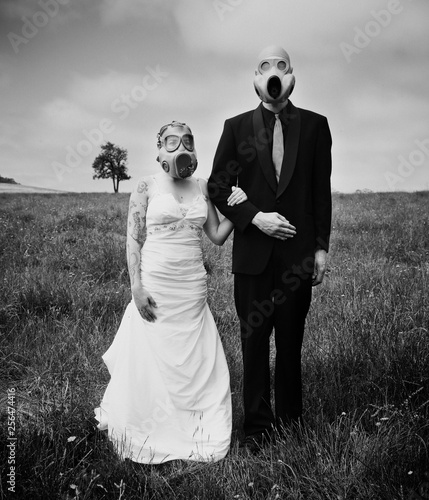 apocalypse wedding Canvas Print