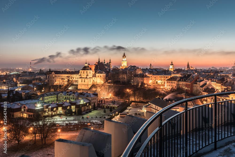 Fototapety, obrazy: Panorama starego miasta w mieście Lublin