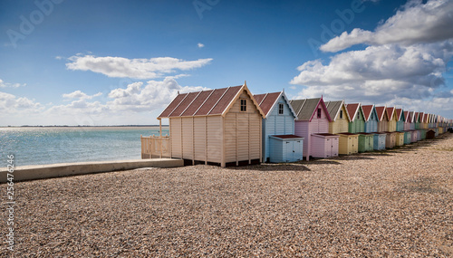 Canvas Print Beach Huts