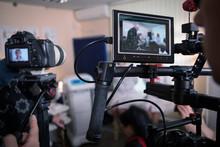 Video Cameras On The Set, Backstage Movie Scenes