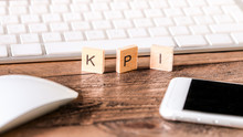 Letters On Wooden Pieces : KPI