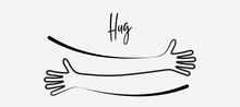 Simple Line Creating Hug Drawi...
