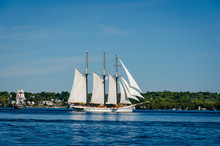 Two Tall Ships Under Full Sail...