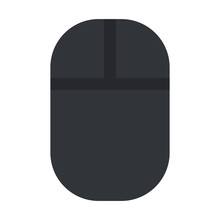 Wireless Computer Mouse In Black Vector Flat Isolated