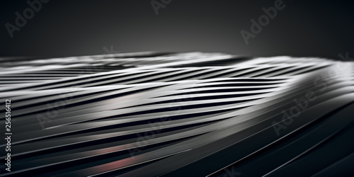 Fotografía  Elegant Luxury Black Metal smooth line background