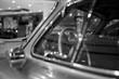 vintage car in black&white