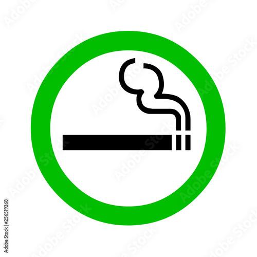 Smoking area sign Canvas Print