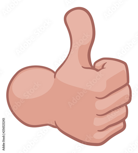 Photo  A hand icon or cartoon emoji doing a thumbs up gesture