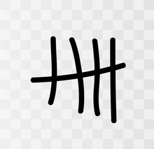 Tally Marks On The Wall