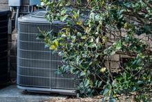 HVAC Unit Concealed By Bush