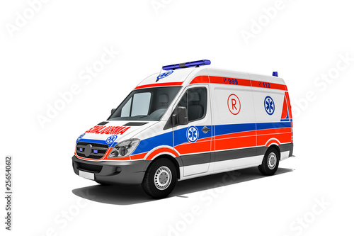 Photo Ambulanz oder Krankenwagen von Rettungsdienst für Notfall und Notfallrettung ein