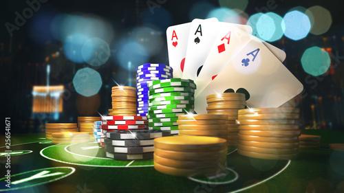 Photo  Online mobile casino background