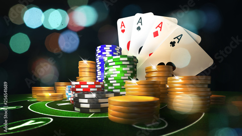 Fotografie, Obraz  Online mobile casino background