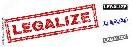Fotografia, Obraz  Grunge LEGALIZE rectangle stamp seals isolated on a white background