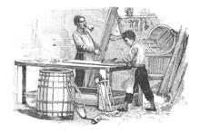 Carpenter - Vintage Engraved Illustration, 1894