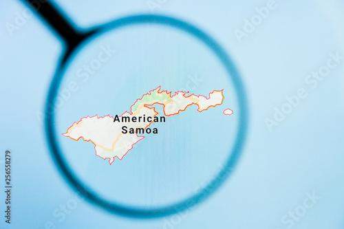 American Samoa, AS state of America visualization ... on