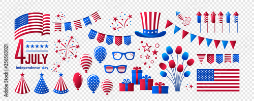 Stampa su Tela July 4 - Independence Day of the USA
