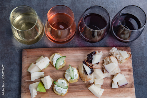 Vászonkép Wine and cheese pairing