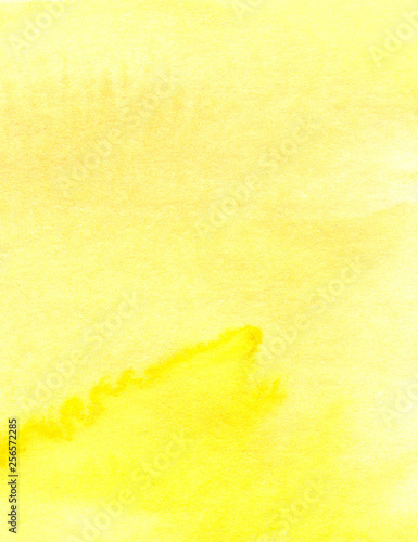 The real yellow watercolor background Fototapeta