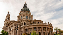 Shot Of St. Stephen's Basilica Church In Budapest