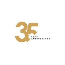 35 Year Anniversary Vector Tem...