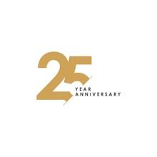 25 Year Anniversary Vector Tem...
