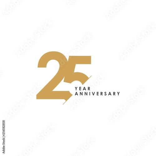 Fotografia  25 Year Anniversary Vector Template Design Illustration