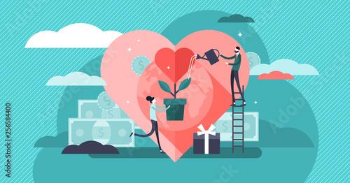 Tableau sur Toile Philanthropy vector illustration