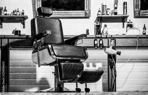 Barbershop theme. Hairstylist in barber shop interior. Barber shop ...