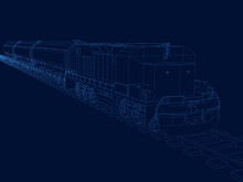 Vector Outline Of The Train Wi...