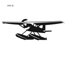 Small Seaplane Isolated Vector...