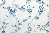 Fototapeta  - Textura de tela con flores azules