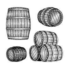 Barrel. Oak Barrel Hand Drawn ...